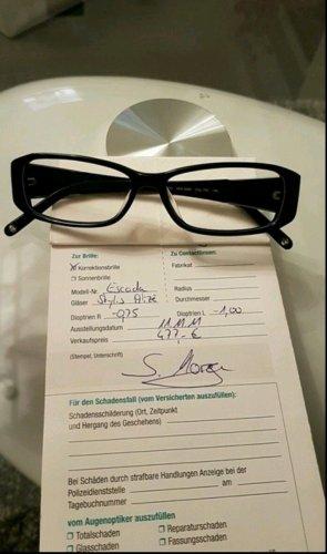 Brille von Escada, schwarz-silber farbend