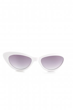 Glasses white extravagant style