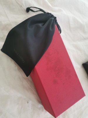 Valentino Angular Shaped Sunglasses dark red