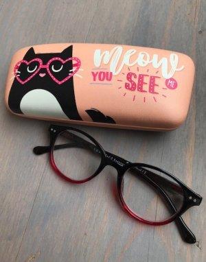 Glasses pink-black mixture fibre