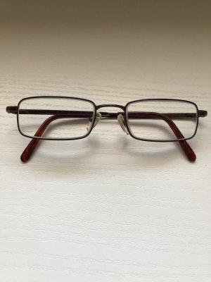 Gafas marrón-rojo oscuro