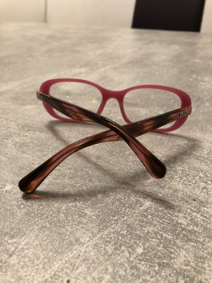 Dolce & Gabbana Occhiale rosa-marrone-rosso