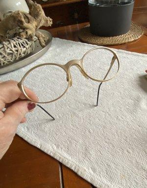 Brillengestell mattiert goldfarbenen