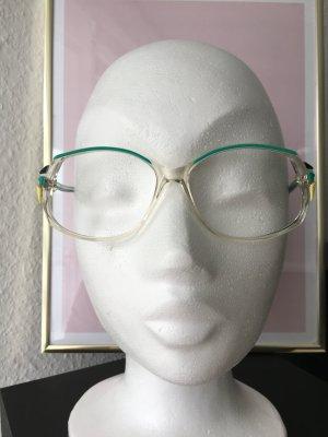 Occhiale bianco-turchese