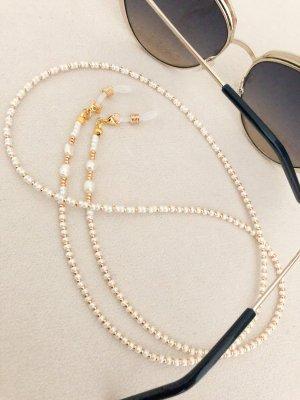 Glasses gold-colored-natural white