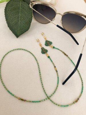 Okulary złoto-jasnozielony