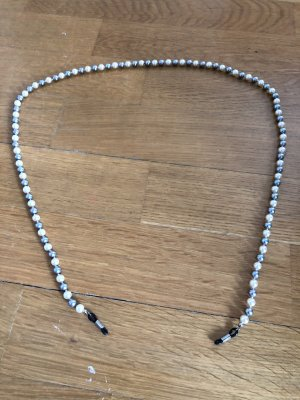 Pearl Necklace natural white-light grey