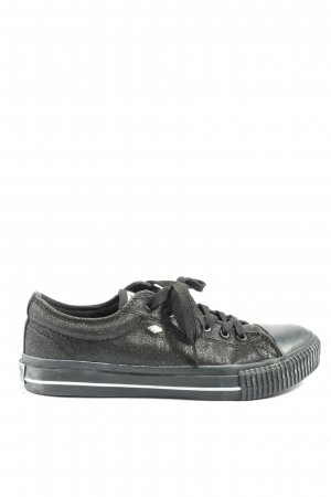 British Knights Lace-Up Sneaker black flecked casual look