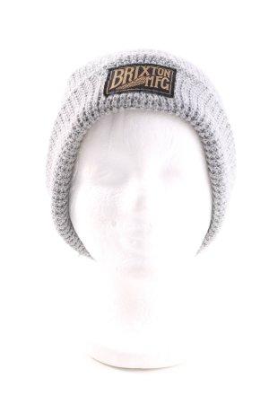 Brixton Berretto grigio chiaro punto treccia stile casual