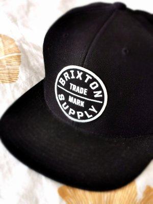 Brixton Cap Cappie Schwarz Weiß mit Logo