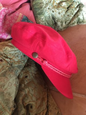 Brixton Flat Cap red-brick red cotton