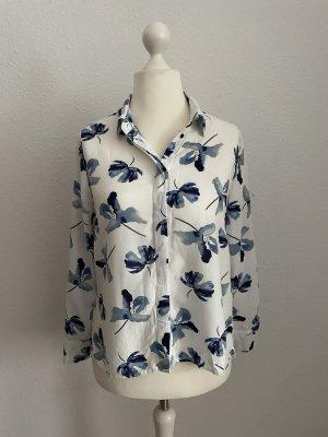 Brodway Blouse met lange mouwen wit-donkerblauw