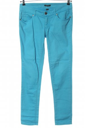 Broadway Pantalon taille basse bleu style décontracté