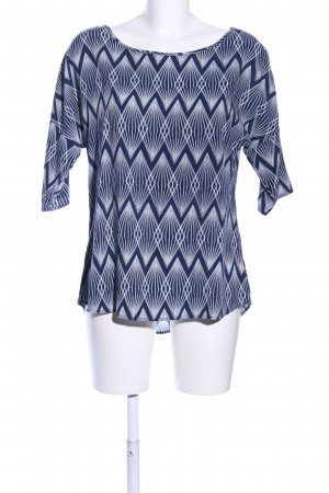 Broadway Kimono-Bluse weiß-blau grafisches Muster Casual-Look