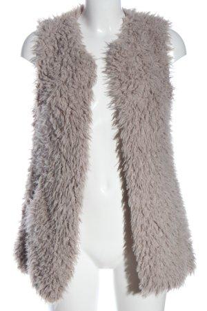 Broadway Vest van imitatiebont wolwit casual uitstraling