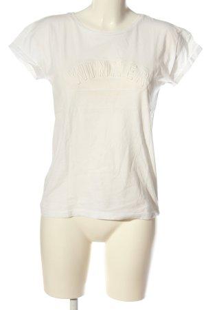 Broadway T-shirt blanc cassé style décontracté