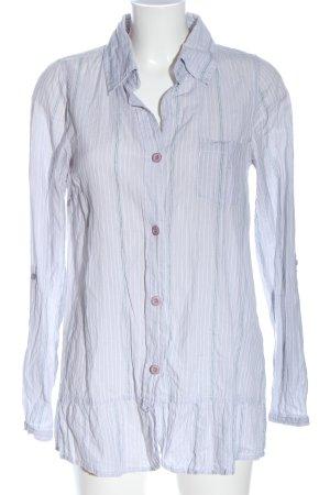 Broadway Chemise à manches longues gris clair motif rayé élégant