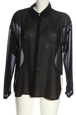 Broadway Camicia a maniche lunghe nero-bianco sporco stile casual