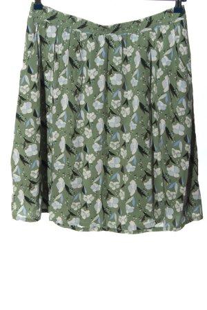 Broadway Minigonna verde-grigio chiaro stampa integrale stile casual