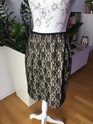Broadway Lace Skirt black-cream polyester