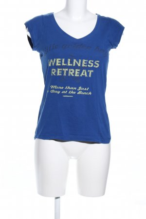 Broadway Print Shirt blue printed lettering casual look