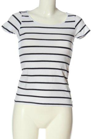 Broadway Gestreept shirt wit-zwart volledige print casual uitstraling