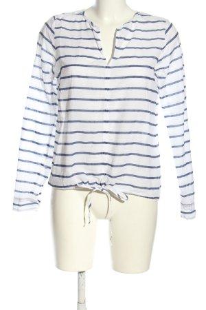 Broadway Schlupf-Bluse weiß-blau Streifenmuster Casual-Look