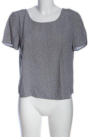 Broadway Schlupf-Bluse weiß-schwarz abstraktes Muster Casual-Look
