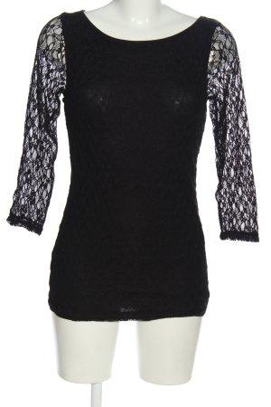 Broadway Kanten blouse zwart casual uitstraling