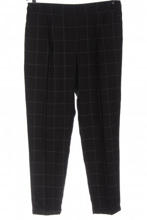 Broadway Pantalone jersey nero motivo a quadri stile professionale
