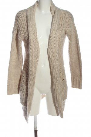 Broadway Strick Cardigan nude Zopfmuster Casual-Look