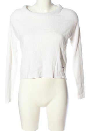 Broadway Maglione lavorato a maglia bianco punto treccia stile casual