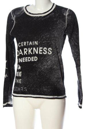 Broadway Strickshirt schwarz-weiß meliert Casual-Look