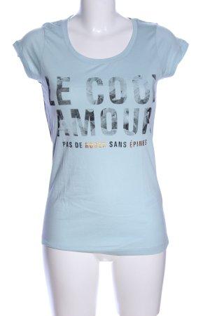 Broadway T-Shirt blau-schwarz Schriftzug gedruckt Casual-Look
