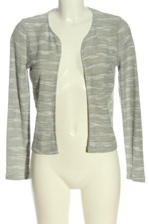 Brodway Cardigan gris clair-blanc moucheté style décontracté
