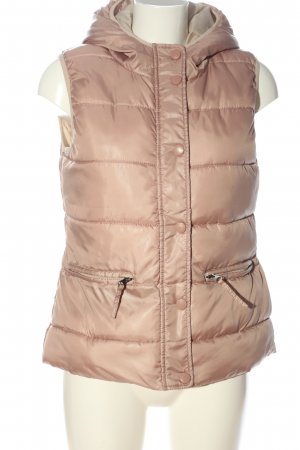 Brodway Hooded Vest pink quilting pattern casual look