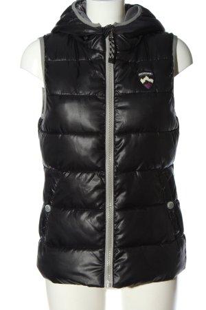 Brodway Chaleco con capucha negro estampado acolchado look casual