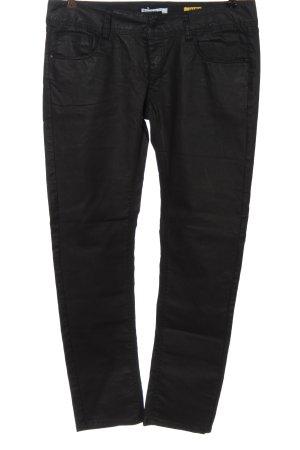 Brodway Pantalon en simili noir style décontracté
