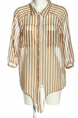 Brodway Blouse met lange mouwen bruin-wit volledige print casual uitstraling