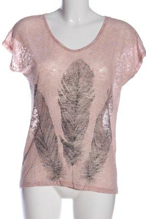 Brodway Camicia fantasia rosa Stampa a tema stile casual