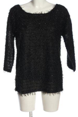 Brodway Blouse à enfiler noir motif rayé style décontracté