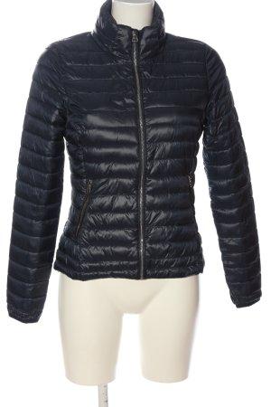 Brodway Pikowana kurtka niebieski Pikowany wzór W stylu casual