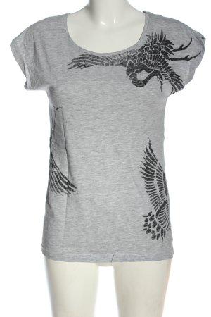 Brodway Débardeur gris clair-noir moucheté style décontracté