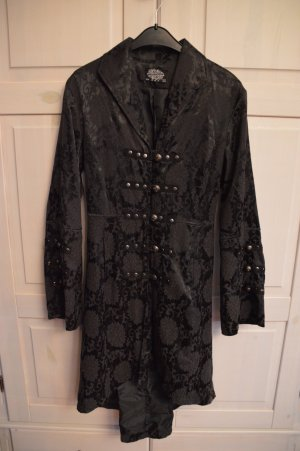 Hearts & Roses Frock Coat black-dark grey cotton