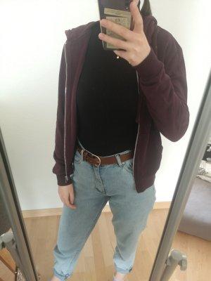Brombeerrote Sweatshirtjacke