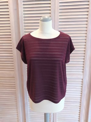 Opus T-Shirt blackberry-red cotton
