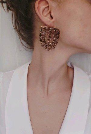 Bronce-farbene Ohrringe - Handarbeit