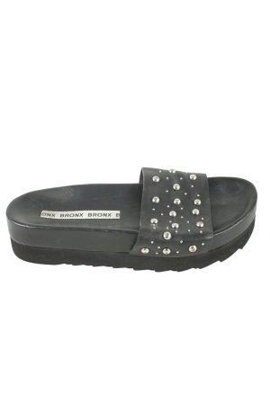 Bronx Heel Pantolettes black-silver-colored elegant