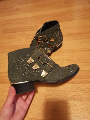 Bronx Ankle Boot Vintage green - Stiefeletten