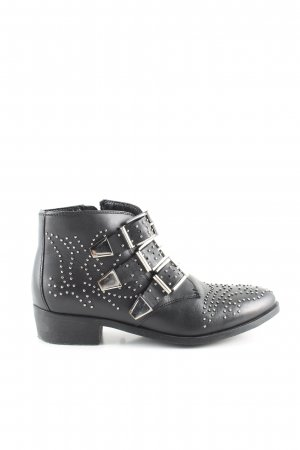 Bronx Ankle Boots schwarz-silberfarben Casual-Look